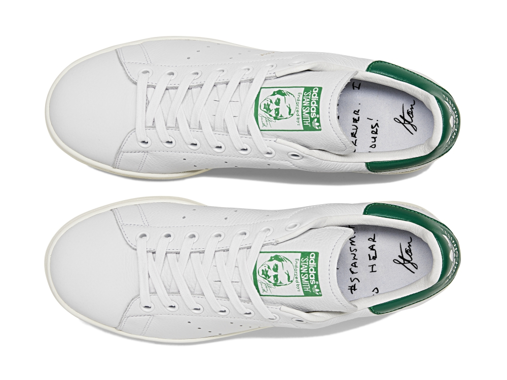 Each pair also includes a special #stansmithforever message written into the footbed with Smith's handwriting.