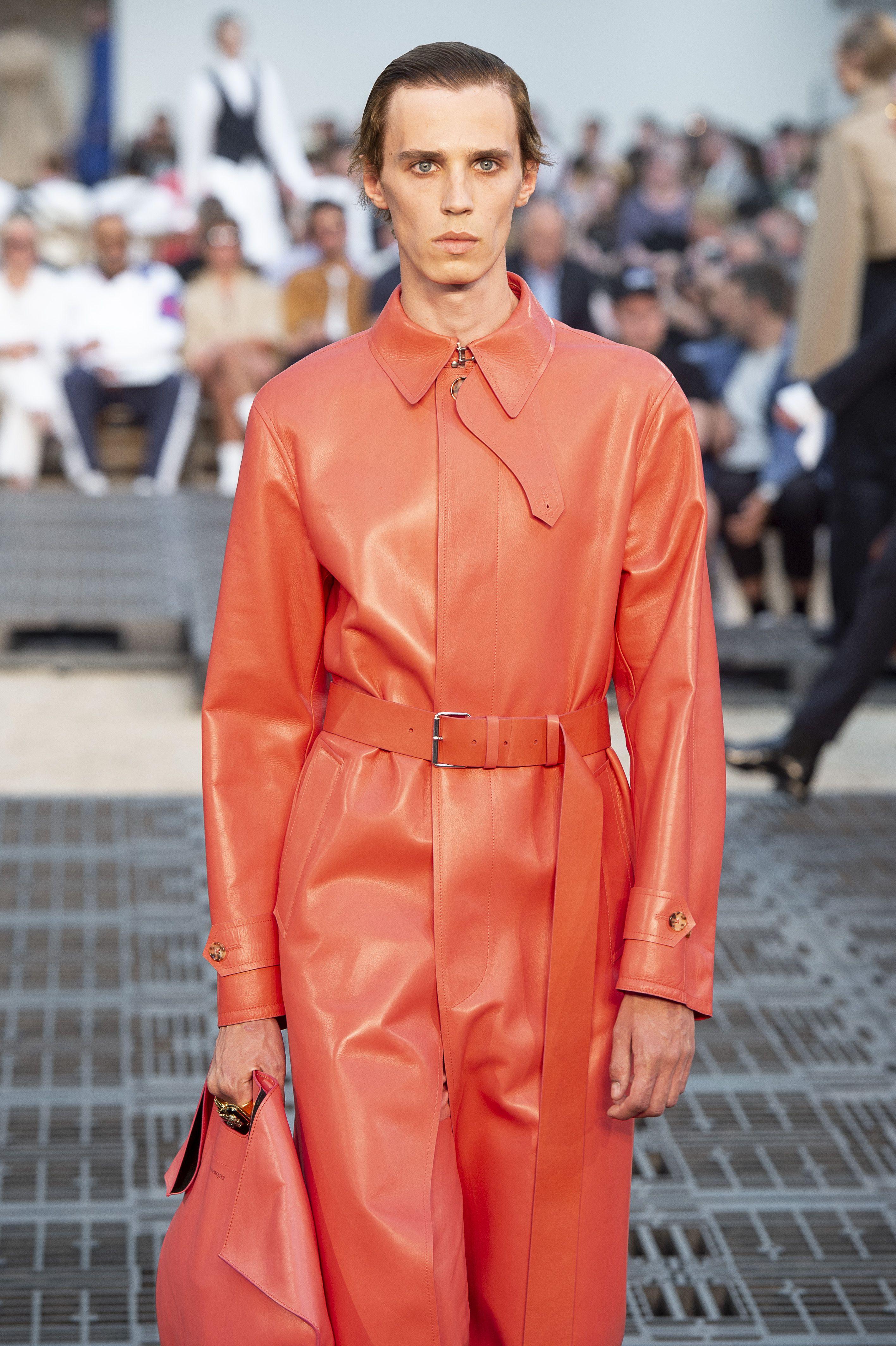 Model on the catwalk Alexander McQueen show, Runway, Spring Summer 2019, Paris Fashion Week Men's, France – 22 Jun 2018