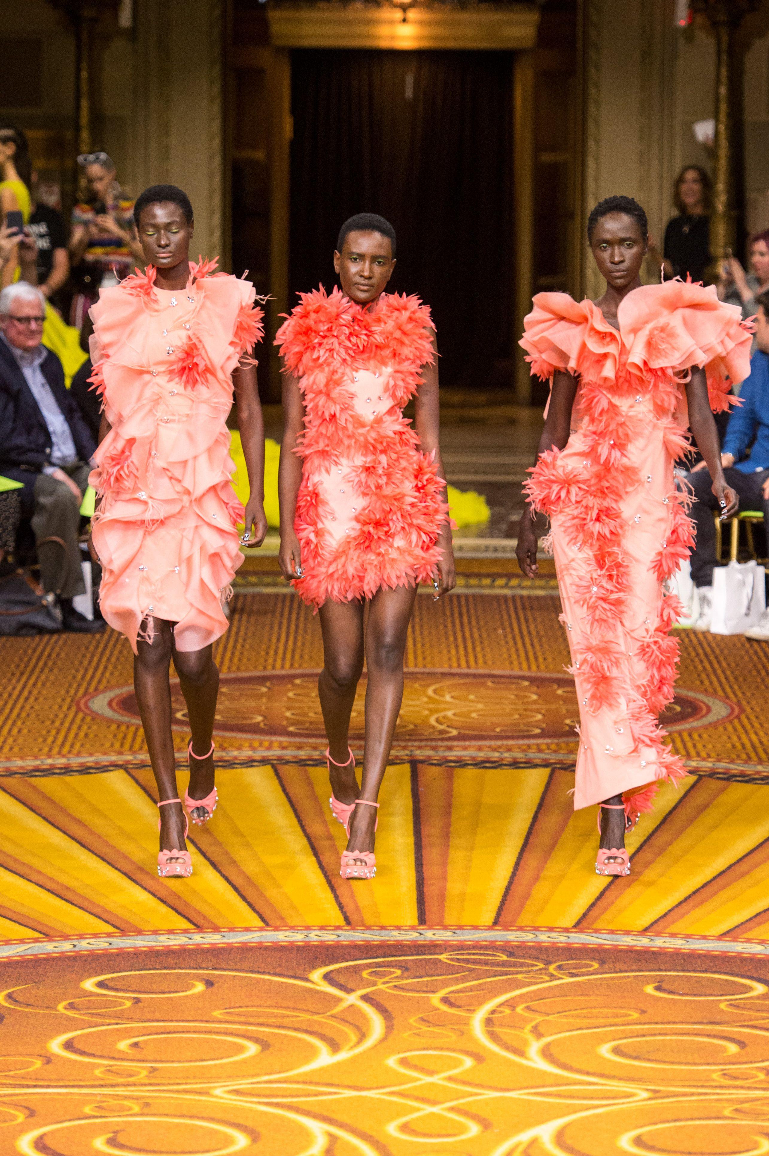 Models on the catwalk Christian Siriano show, Runway, Spring Summer 2019, New York Fashion Week, USA – 08 Sep 2018