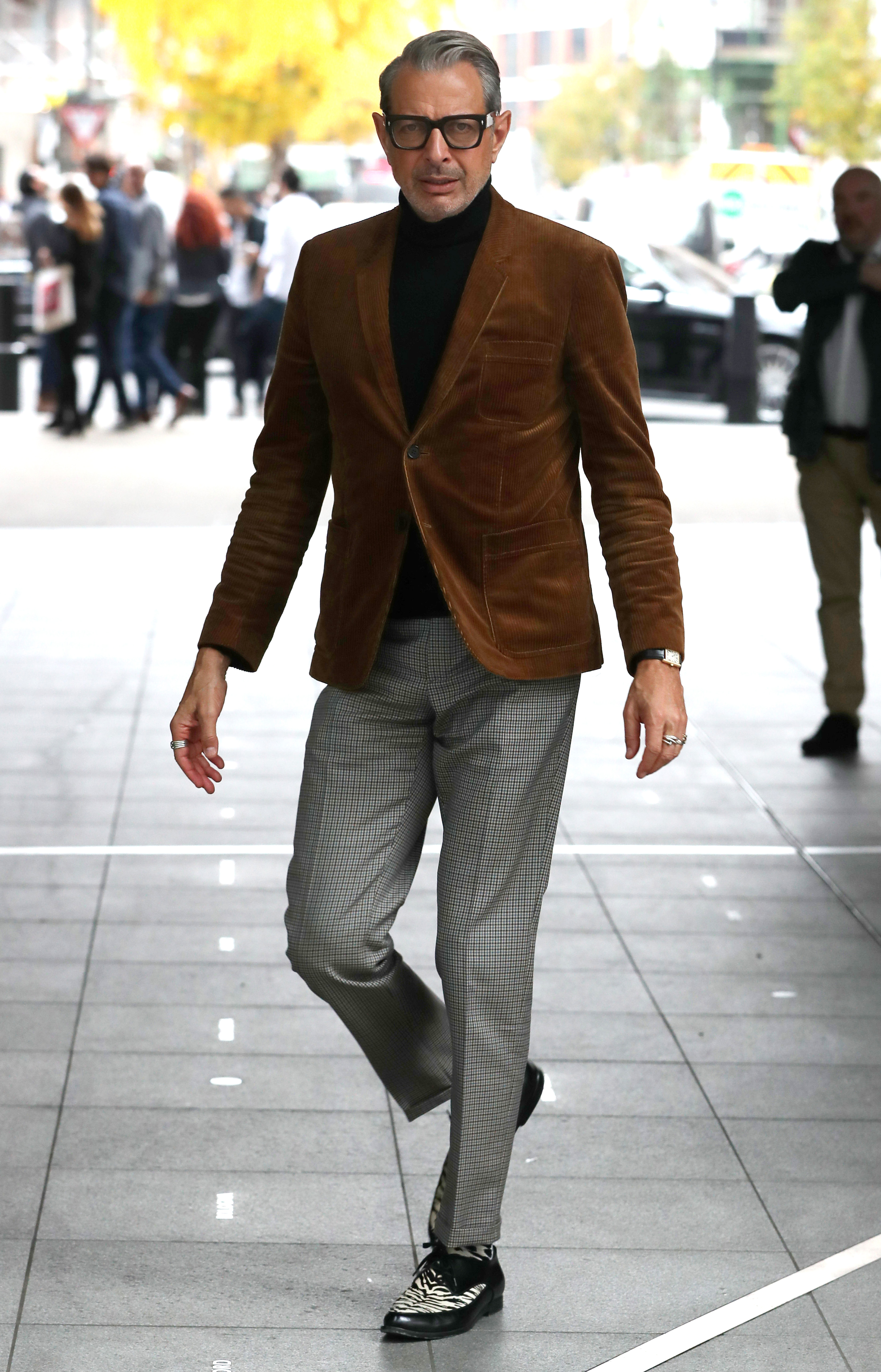 Heading to the BBC Radio 1 studios in London in November, Jeff Goldblum peacocks in one of the hottest trends in men's style: corduroy. Men conducted 507 percent more Pinterest searches for corduroy in 2018 than in the year prior, the visually-driven social media company said.