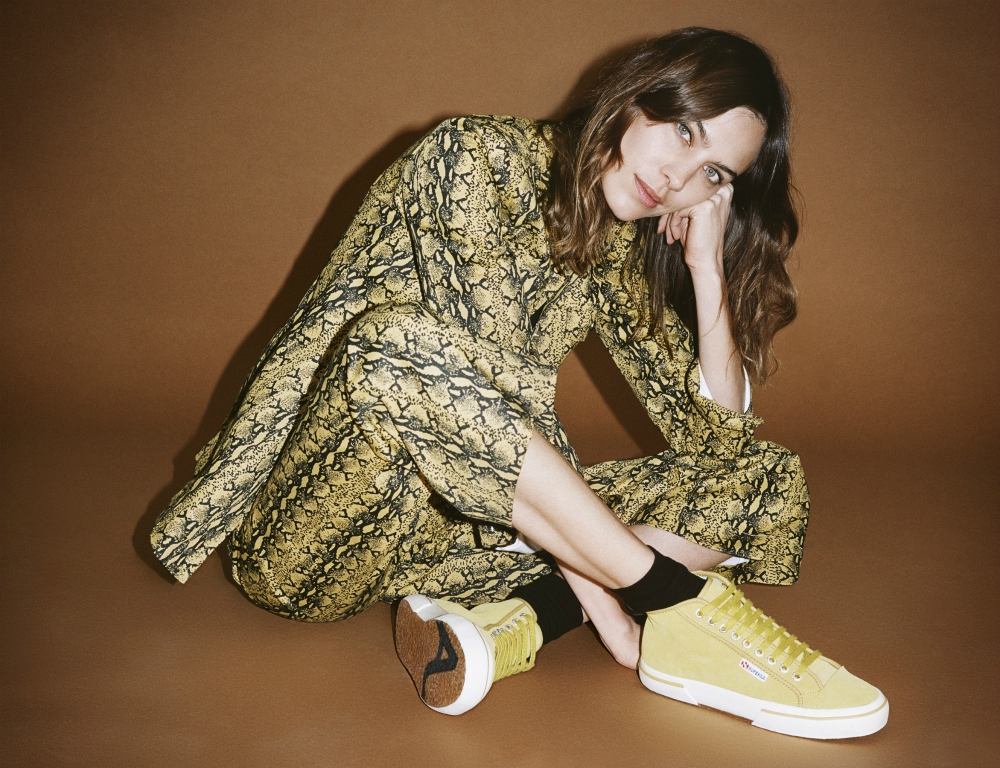 The canary yellow slightly-high tops from Chung's new collection.