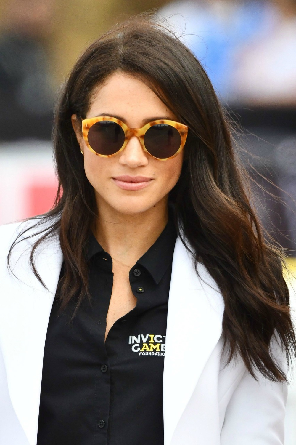"When it comes to accessories, consumers are looking for tortoiseshell. Pinterest data shows searches for earrings made from or mimicking the animal print leaped 679 percent over the course of 2018. Here, the Duchess of Sussex lends the ""Meghan Markle Effect"" to the trend, modeling oval tortoiseshell sunglasses."