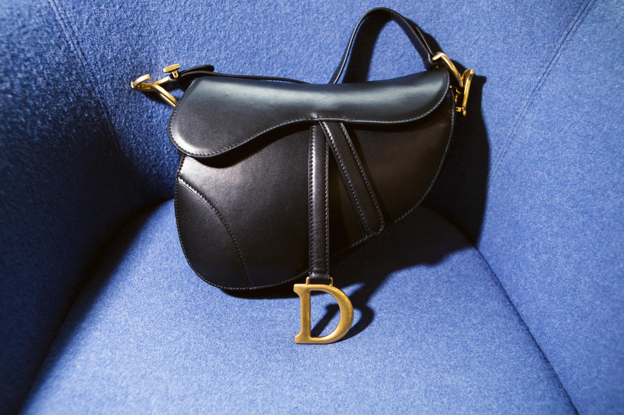 A counterfeit Dior saddle bag.