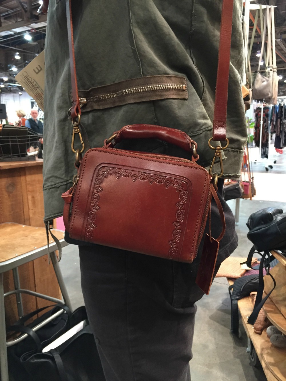 """""""I think people are always trying to free up space in life, and it all starts with the hands and shoulders,"""" said Sherwin Arastoozad of the fall season's trend toward ultra-tiny bags. The designer behind LA-based Cut N' Paste Bags maintained that the smaller styles are actually """"very practical."""" Credit card and media pockets help to """"organize and maximize spacing,"""" he added."""