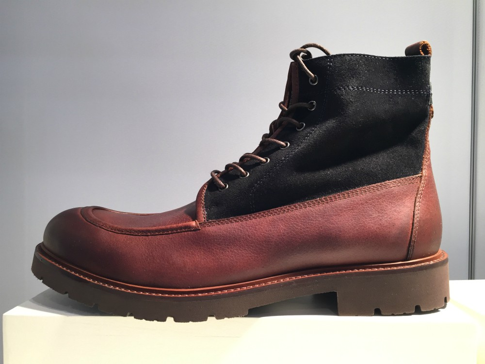 "Crossover styles, which blend outdoor performance elements with trendy details, have become a must-have for men's boot brands. ""It's about versatility,"" said Mike Griffiths, VP of sales at Johnston & Murphy."