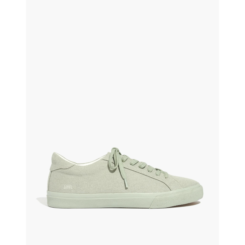 Sidewalk Low-Top Sneakers in Monochrome Canvas
