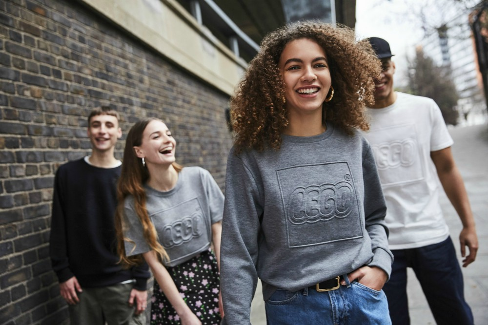 To capture millennial interest, Lego and Snap created a virtual clothing boutique where Lego mannequins modeled sweatshirts, tees and more.