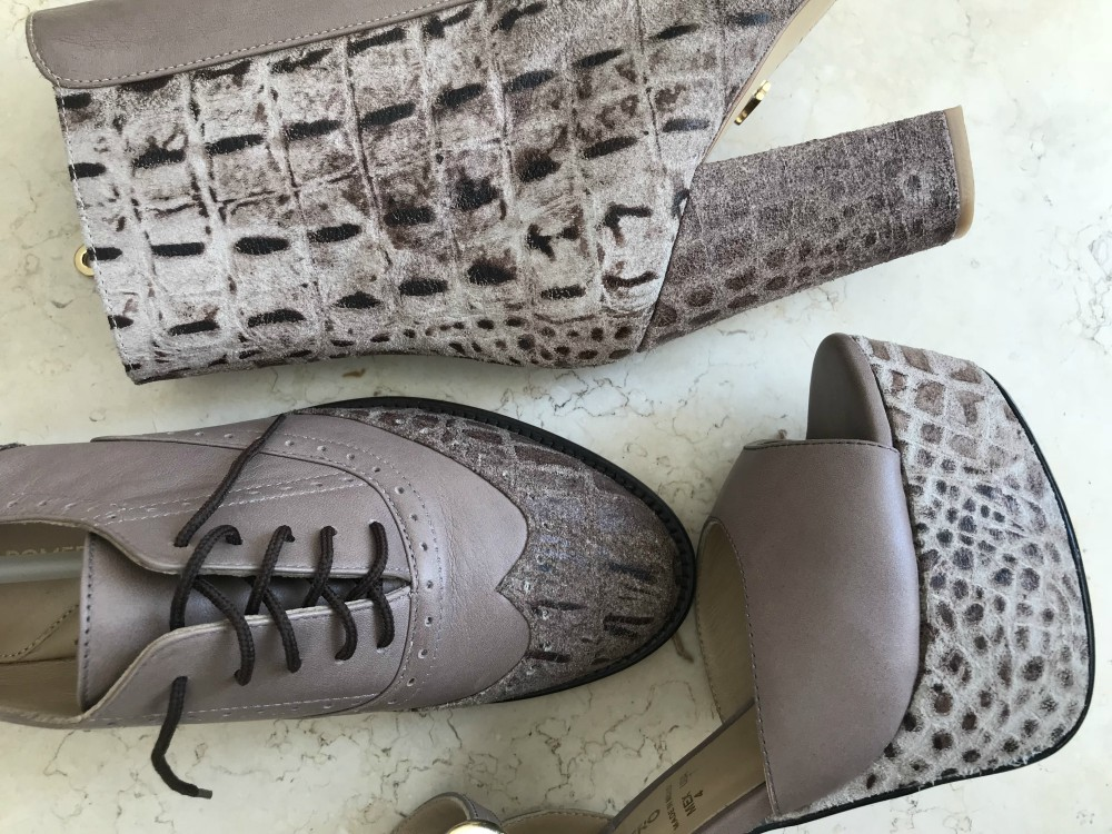 "Regina Romero's owner, Jorge Romero, agrees that inventiveness is key to grabbing the consumer's attention. He's spent the past 40 years in the Mexican shoe industry working with local tanneries on developing ""one-of-a-kind textures and finishings"" to personalize the brand's leathers."