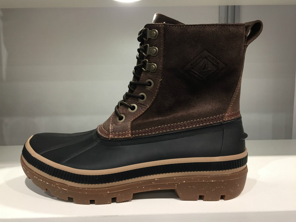 Sperry's rain-and-snow-proof duck boot has also been updated with 200 grams of Thinsulate lining, he said, for added warmth. Sales exec Luke Jay sees the brand's fall collection being a hit with city-dwellers living in colder climates.