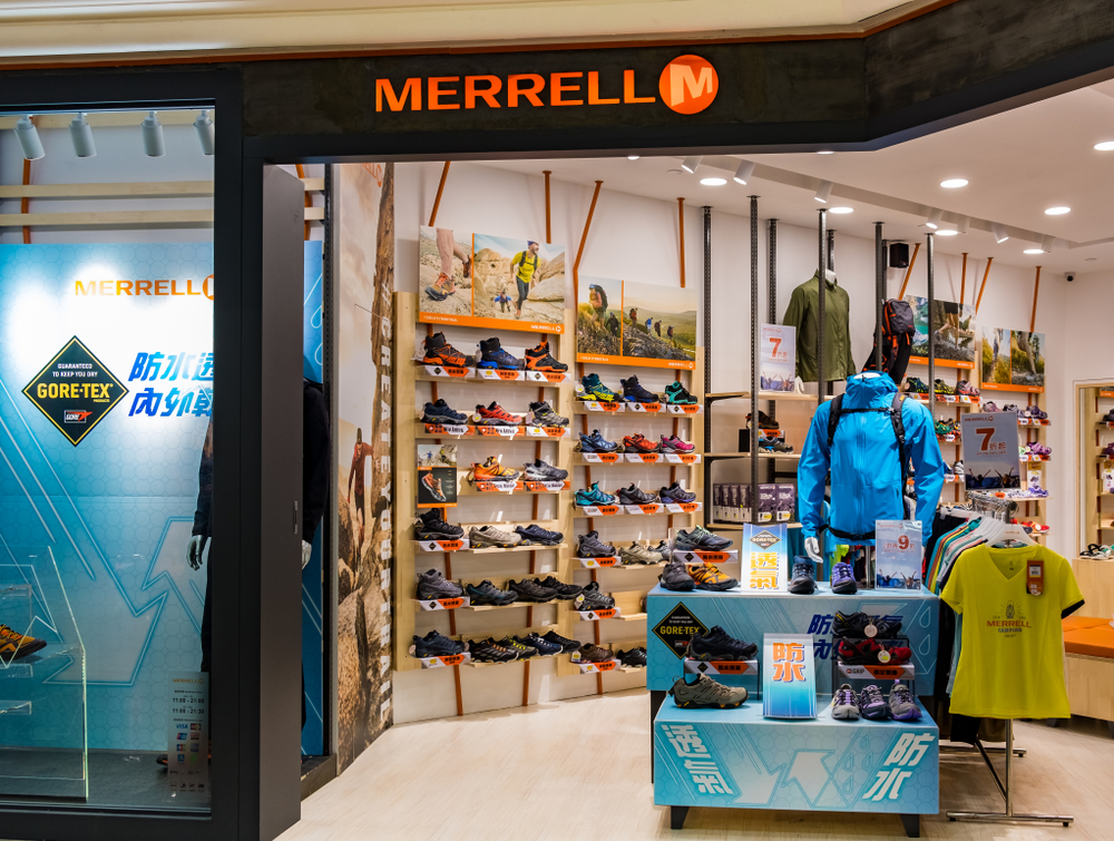 Image of a Merrell store