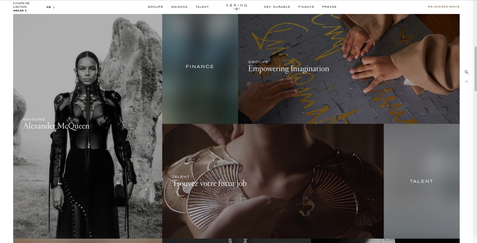 Kering fashion conglomerate website