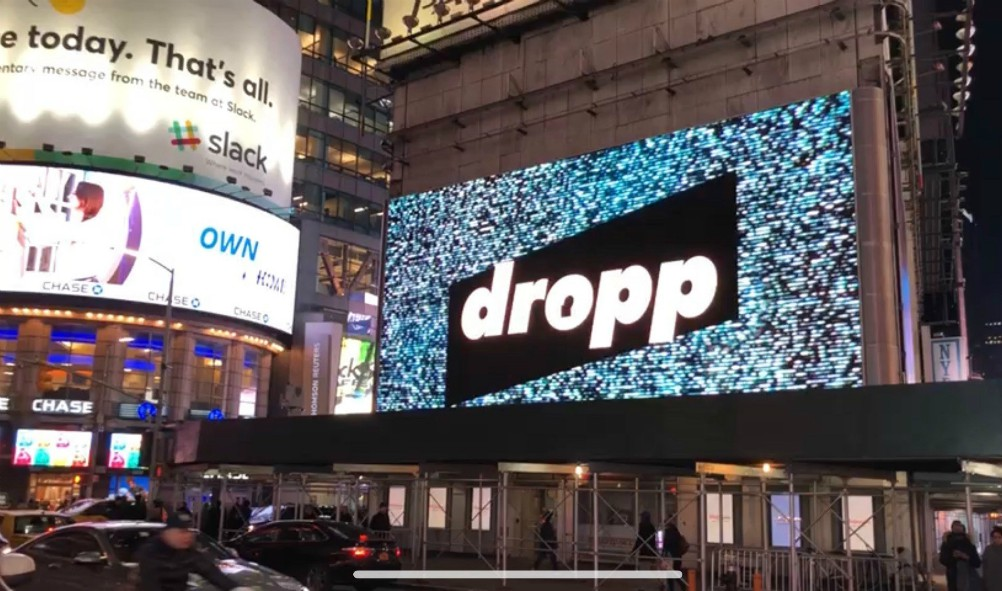 dropp tv video shopping gen z streetwear blockchain