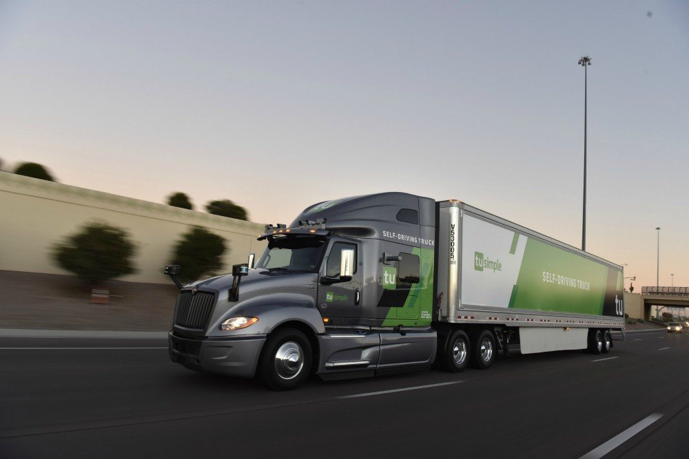 tusimple driverless truck logistics automation