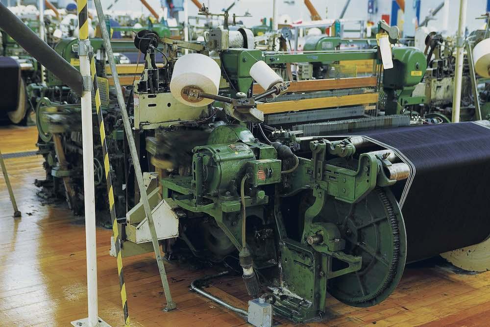American Draper X3 Selvage loom