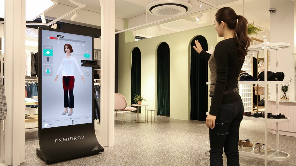 A Korean tech firm thinks physics holds the key to creating a winning, mixed-reality magic mirror experience for in-store shoppers.