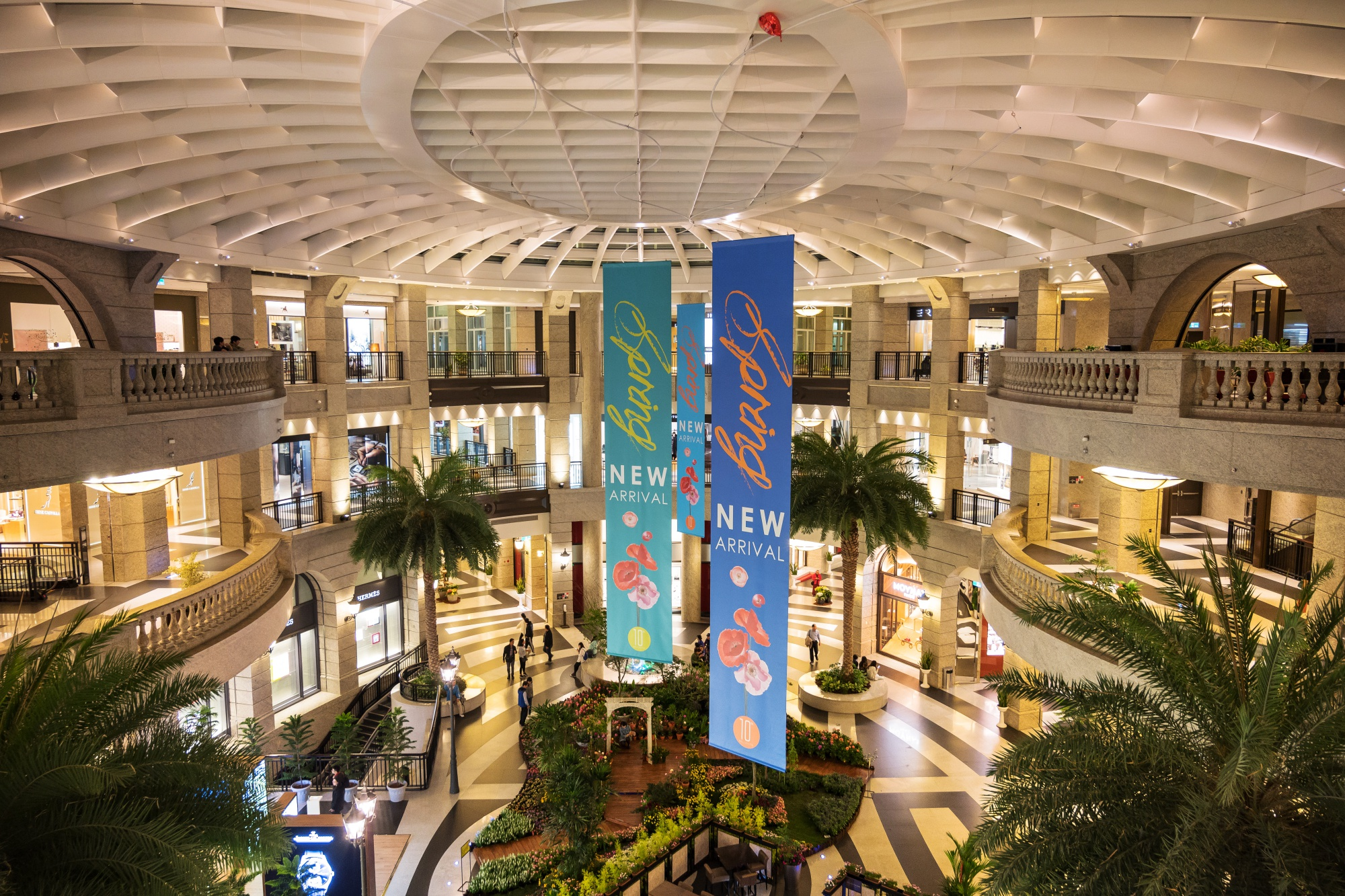 Inside the Bellavita luxury mall