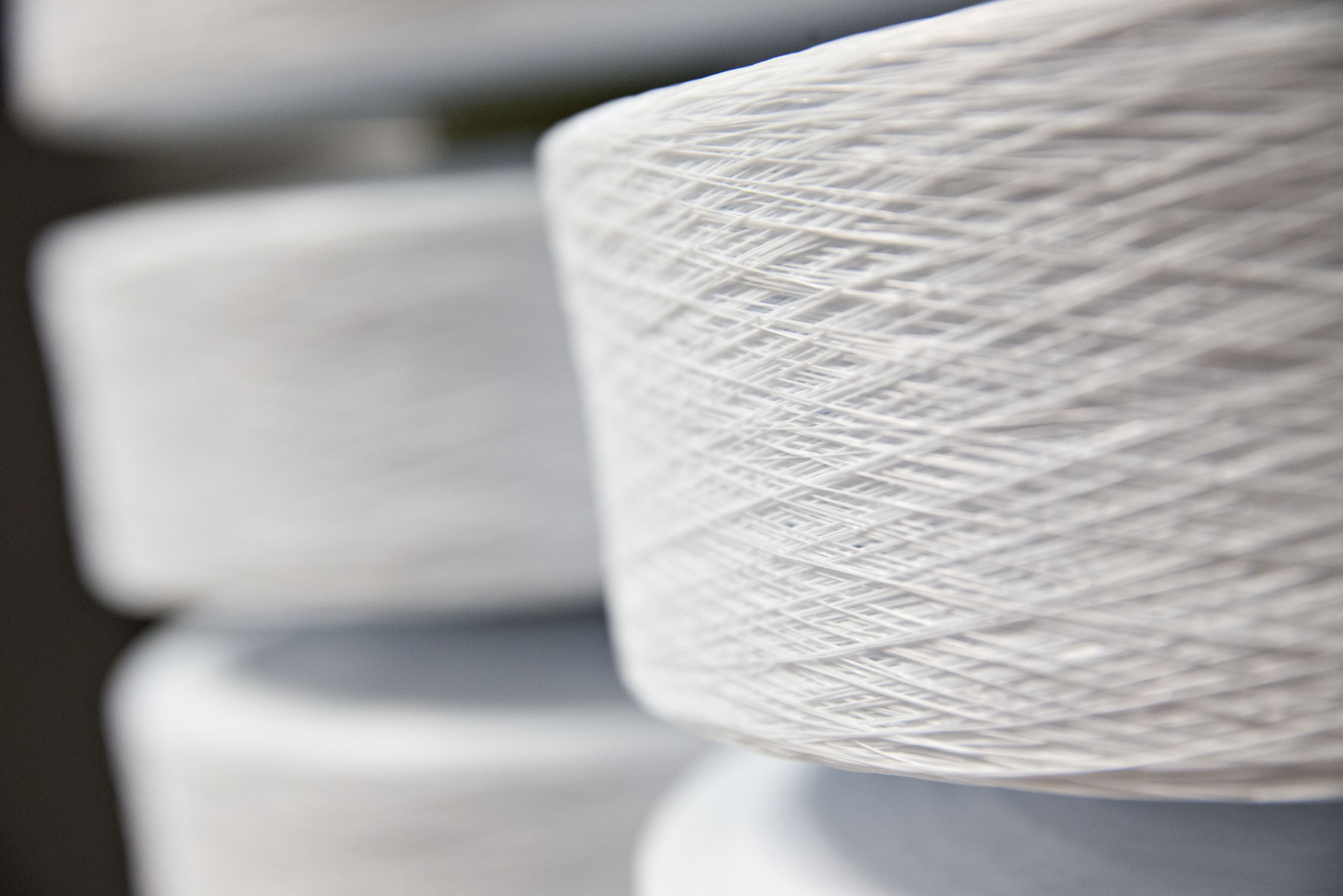 A roll of lycra fiber produced by Invista, a subsidiary of Koch Industries Inc., sits in a warehouse during production at the Kimberly-Clark Corp. facility.