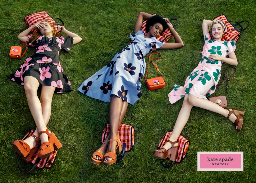 Looks from Kate Spade's new marketing campaign.