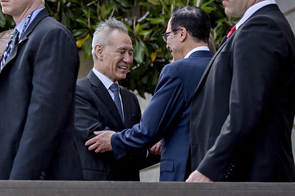 trump liu he no rush trade war deal tariffs