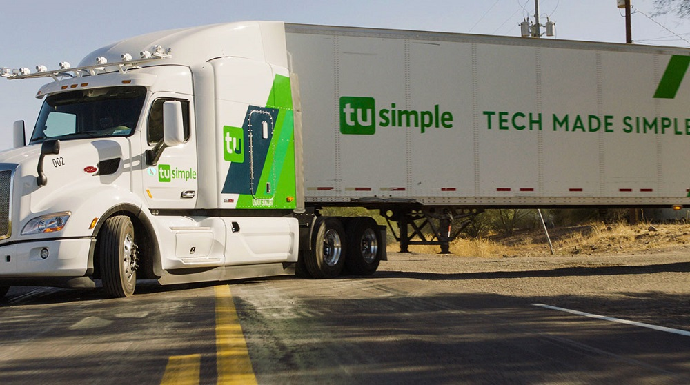 ups usps tusimple driverless trucking logistics efficiency