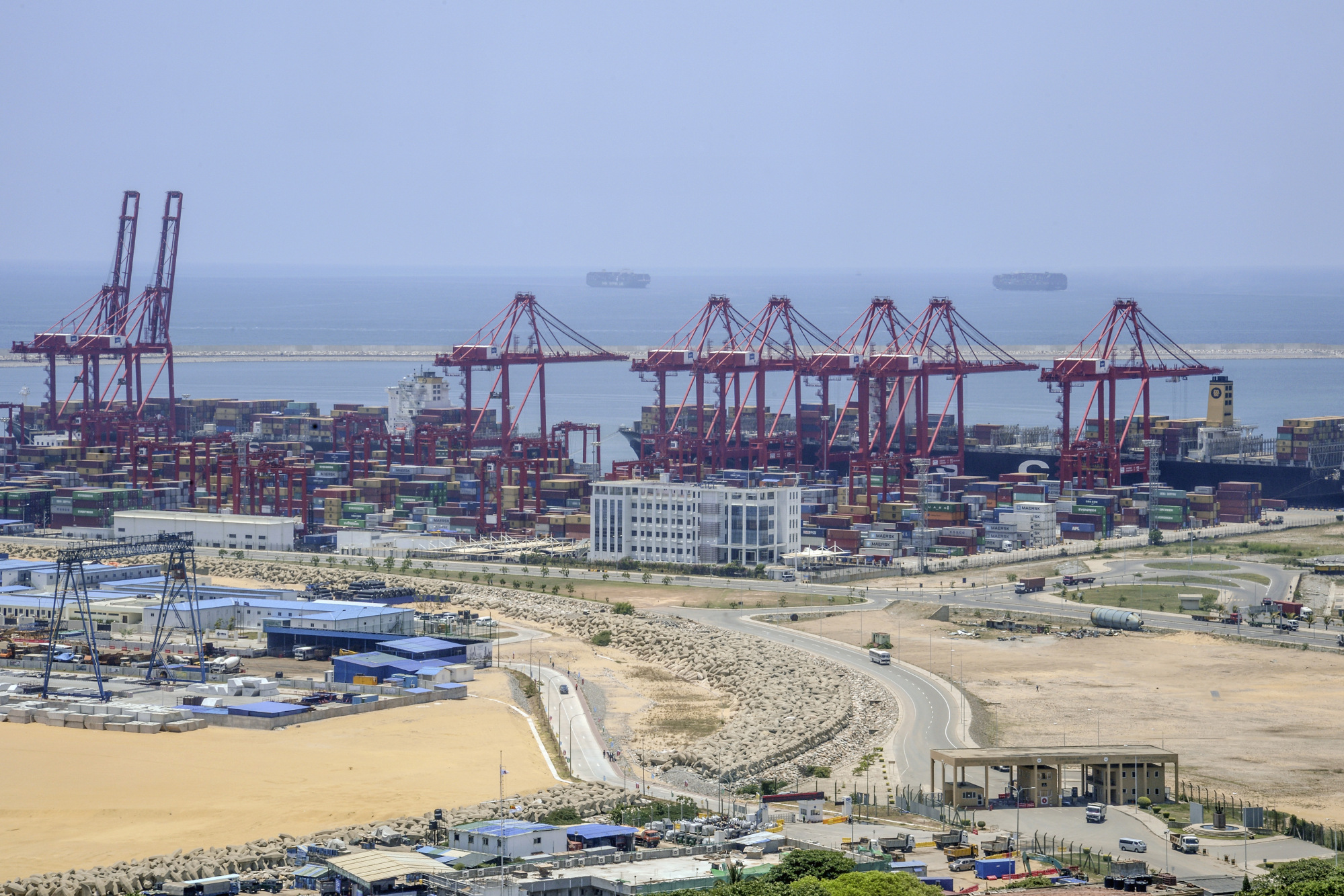 The site of Colombo Port City in Colombo, Sri Lanka.