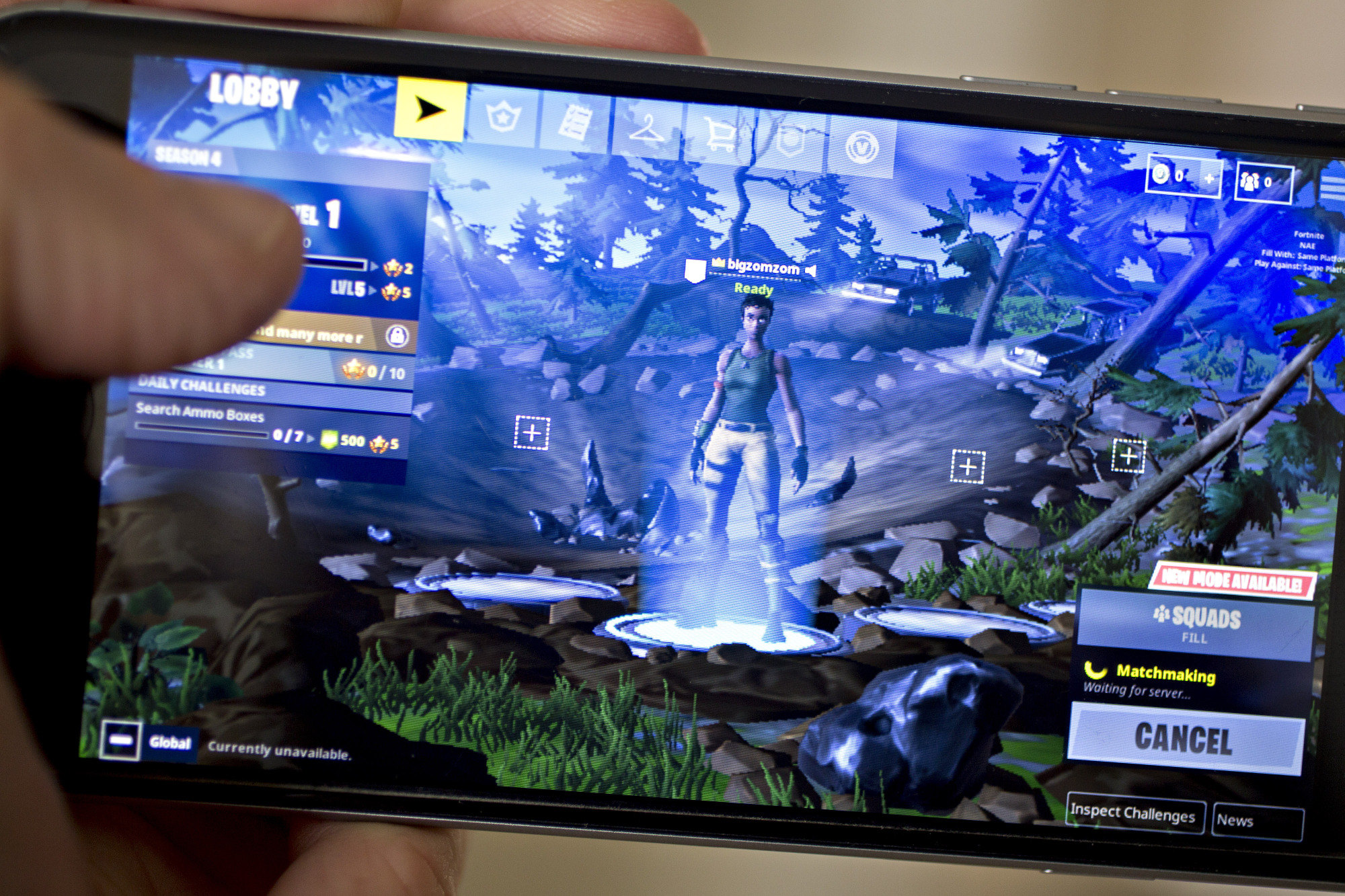 The Epic Games Inc. Fortnite: Battle Royale video game is displayed for a photograph on an Apple Inc. iPhone in Washington, D.C., U.S.