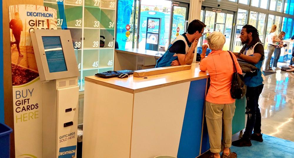 decathlon cashless store gift card kiosk Self-Service Network