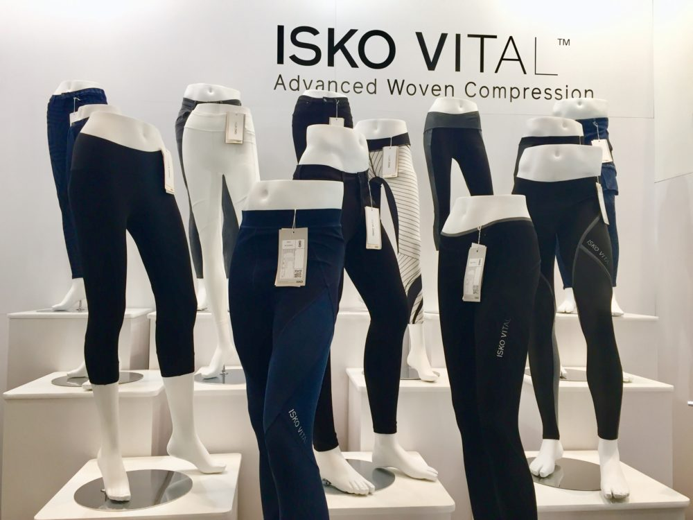 ISKO Vital, a new woven compression technology, debuted at Outdoor Retailer.