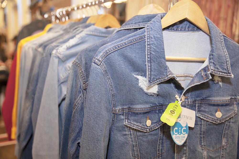 Lenzing Group's Tencel fibers featured in denim jackets