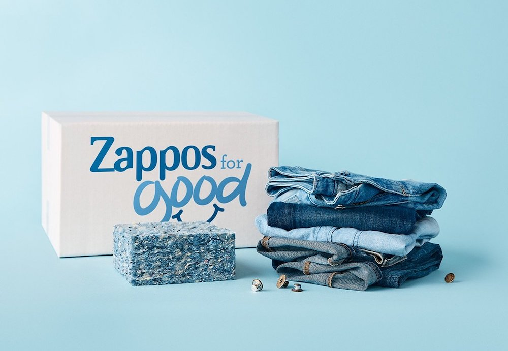 Zappos & blue jeans go green