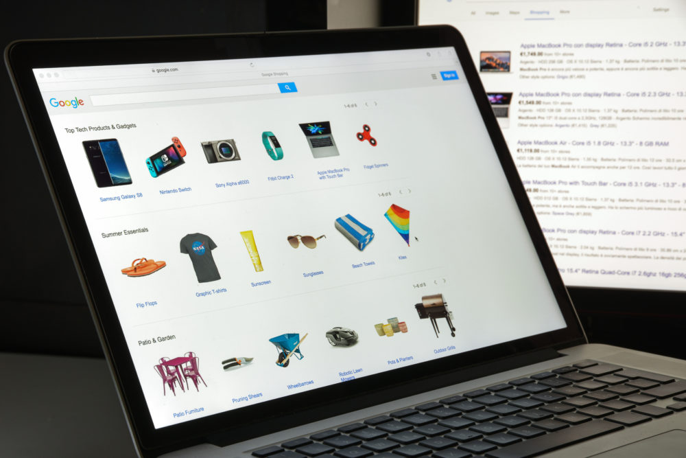 Google Shopping pulls together a curated selection of products based on web shoppers' search patterns.