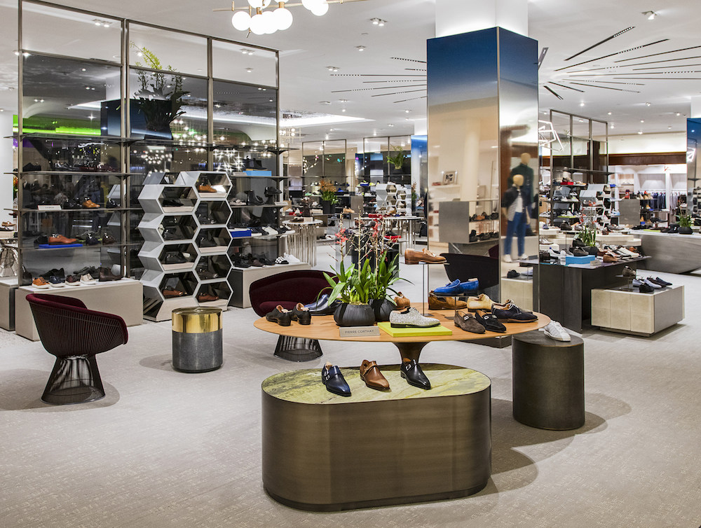 the grand renovation at Saks Fifth Avenue continues with its men's footwear department