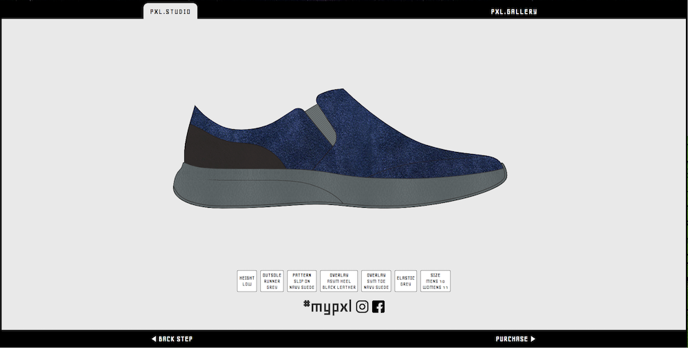 pxl. a new footwear brand that lets users create their own footwear
