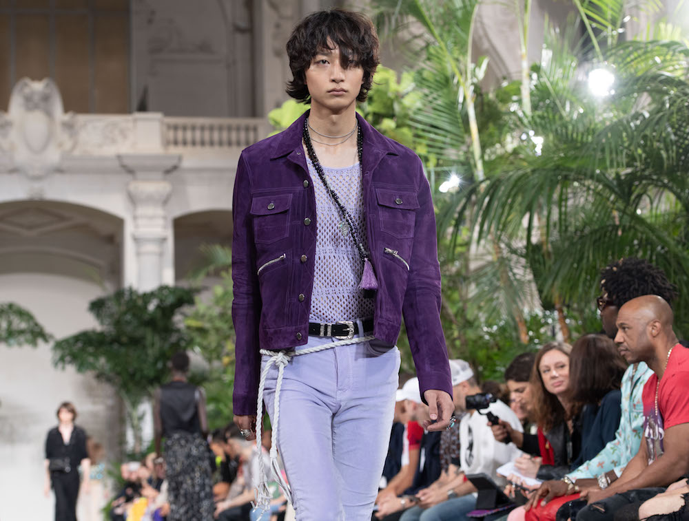Amiri purple outfit