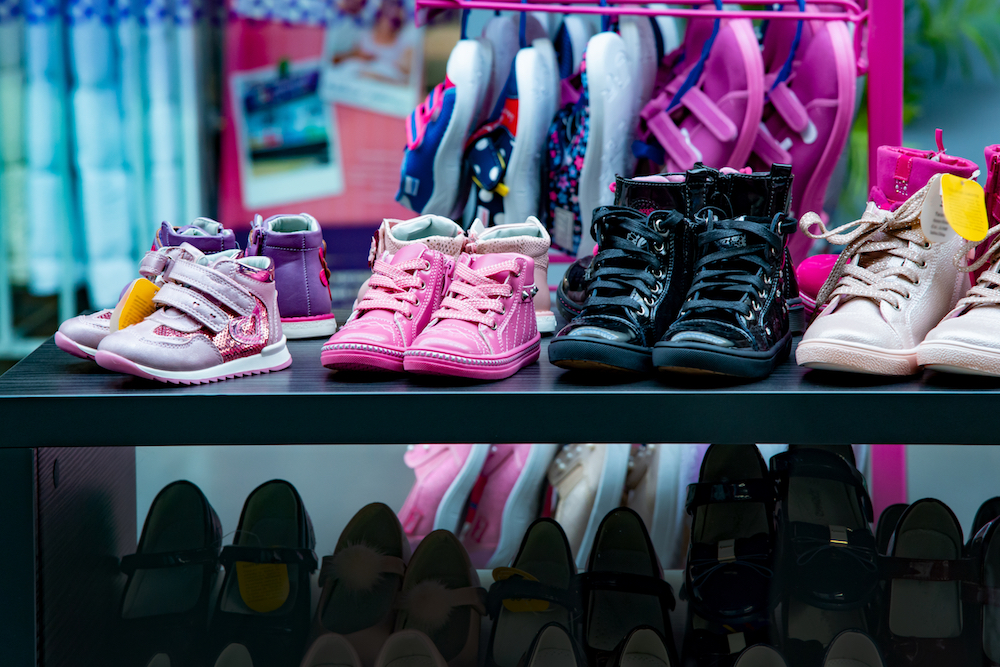 spending on shoes for back to school is up per family