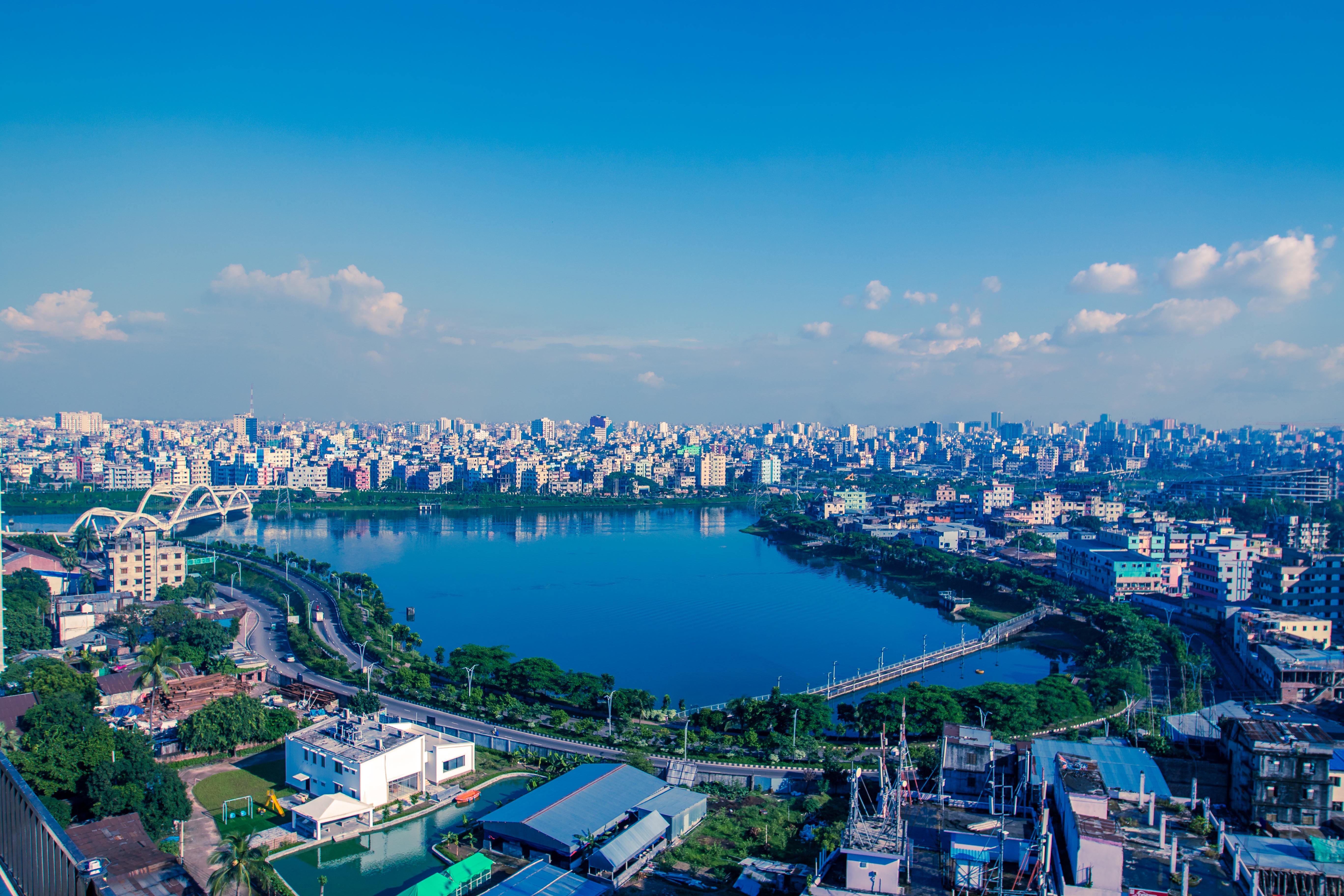 buildings of dhaka city, bangladesh