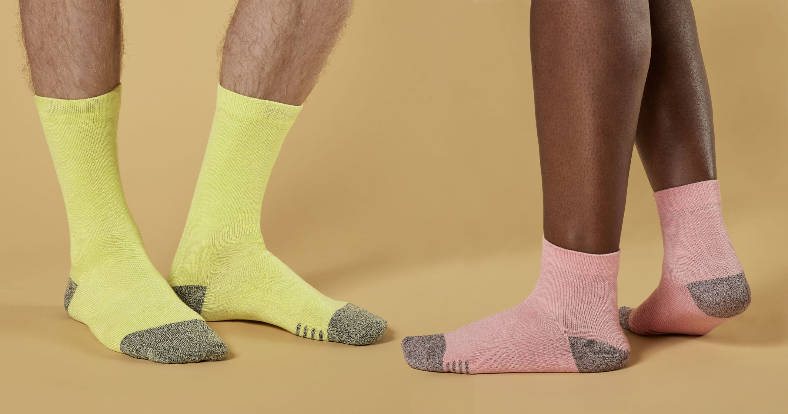 Feet wearing Allbirds socks