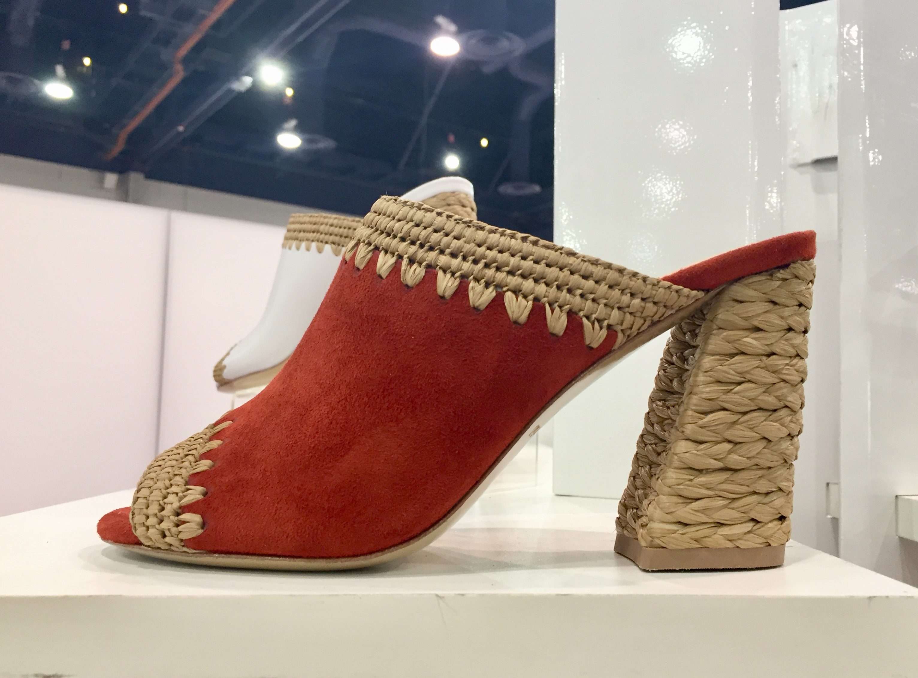 A new espadrille block heel style from Charles David.
