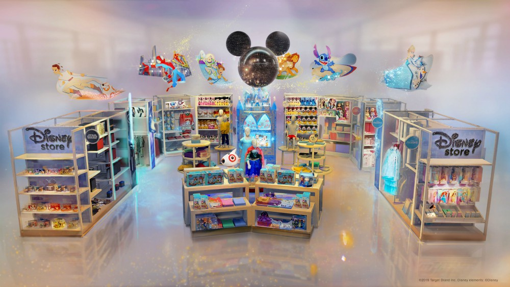Disney shop-in-shops will launch in Target stores on Oct. 4.