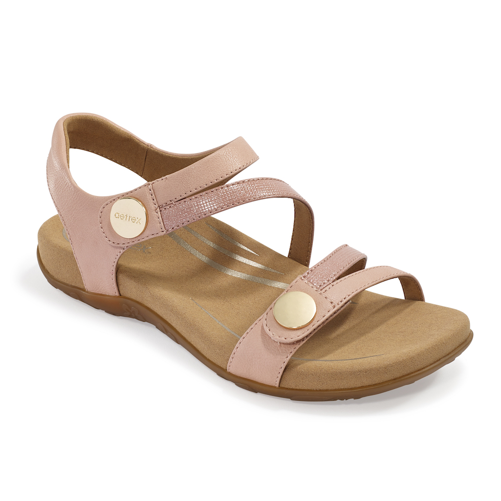 Quarter-strap sandal with a padded heel.