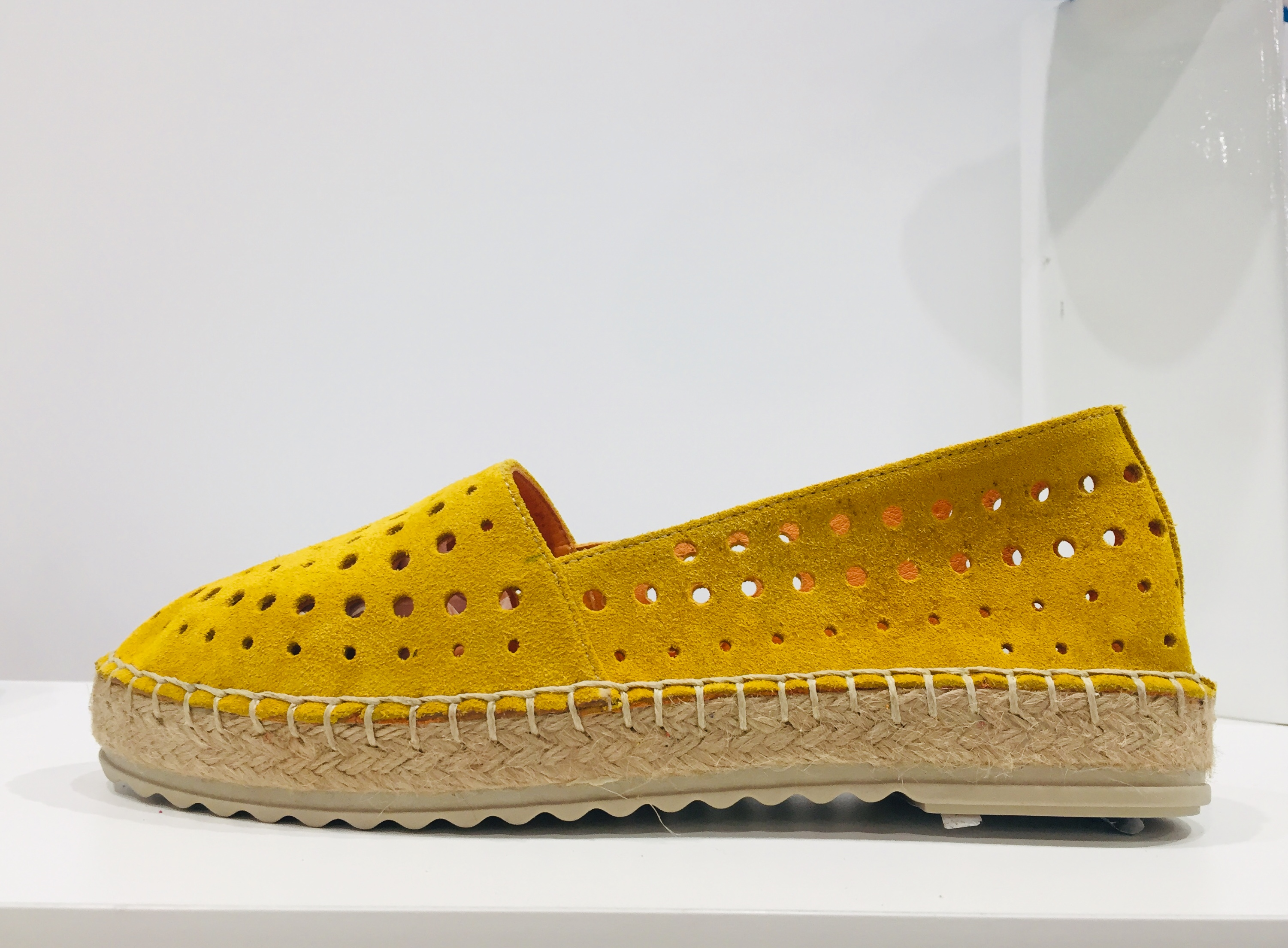 A perforated espadrille from Molly Bessa.