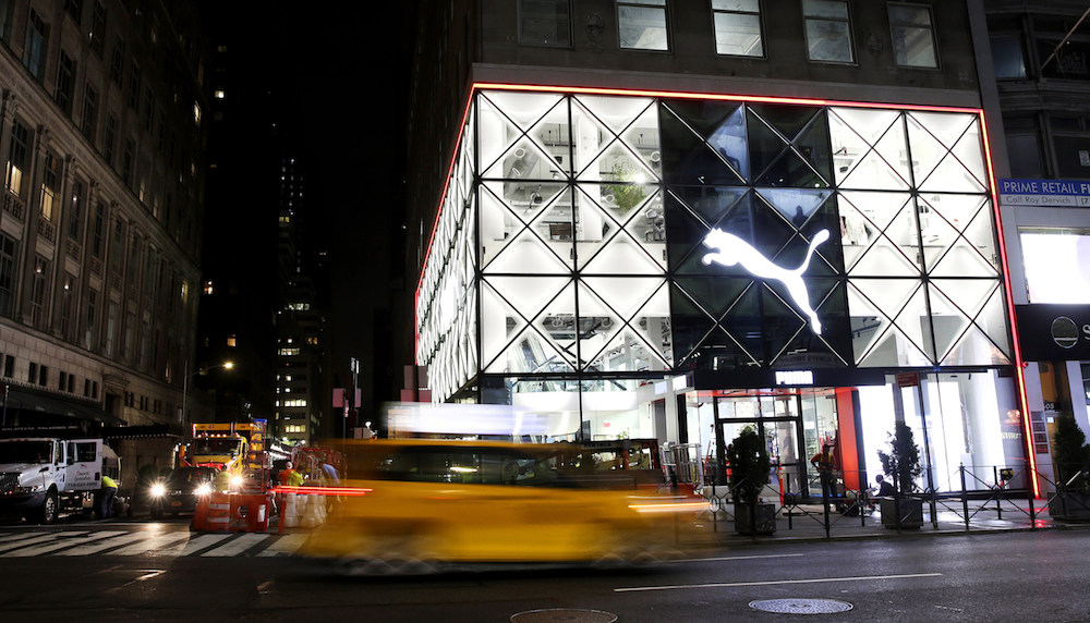 Puma's new flagship store on 5th ave in new york city