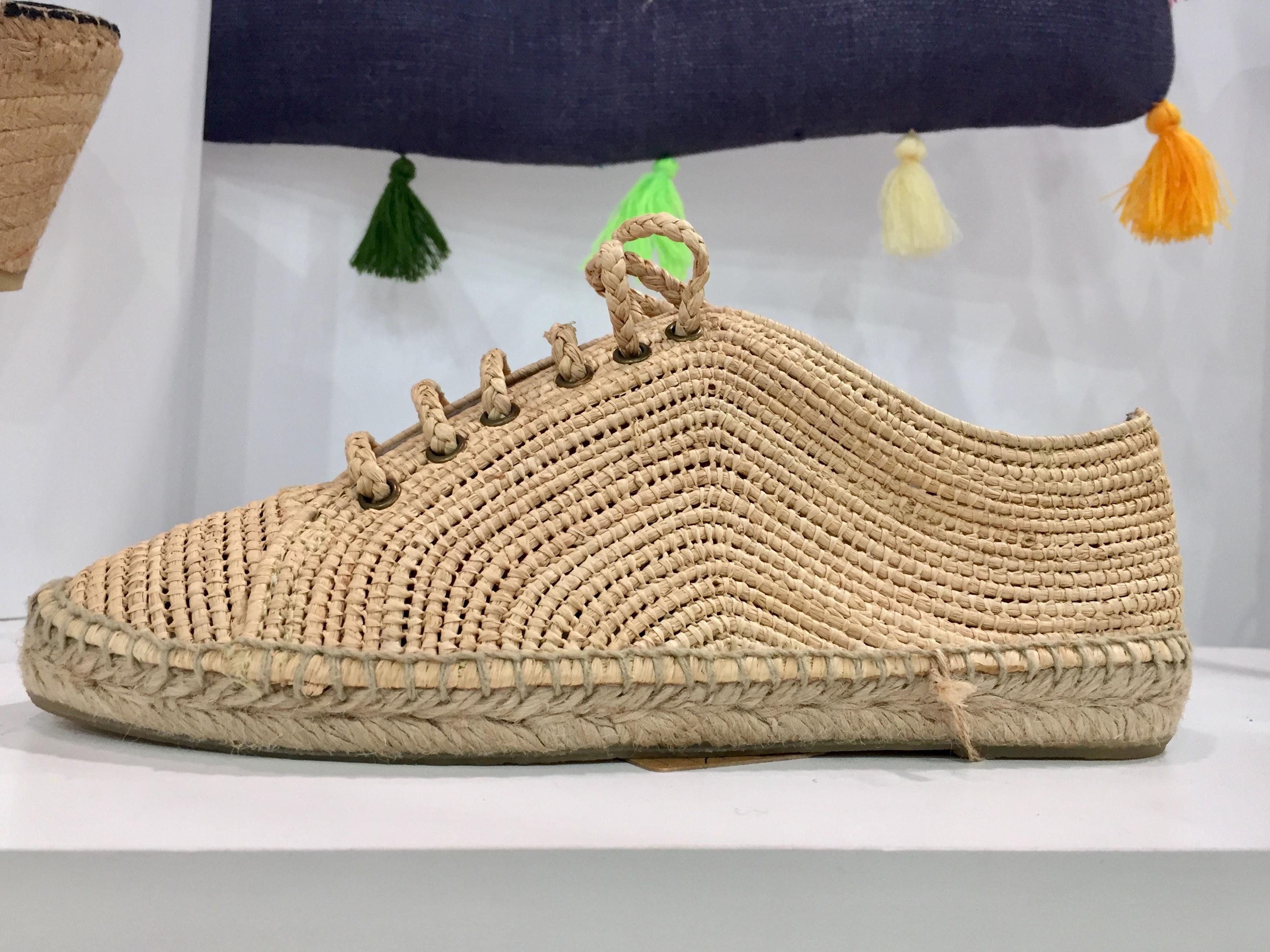 A jute-woven espadrille sneaker style from Sonali.