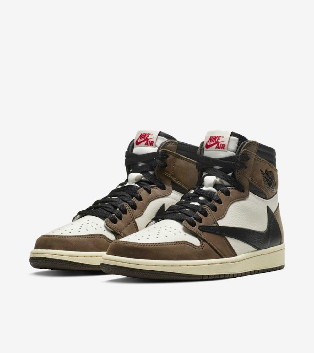 """Travis Scott x Nike Air Jordan 1 """"Cactus Jack"""" – Retail Price: $220, Average Resale Price: $988, Price Premium: 465 Percent"""