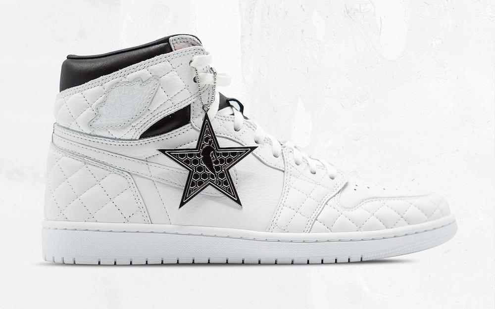 """Nike Air Jordan 1 """"Charlotte Hornets Foundation"""" White – $2,036"""
