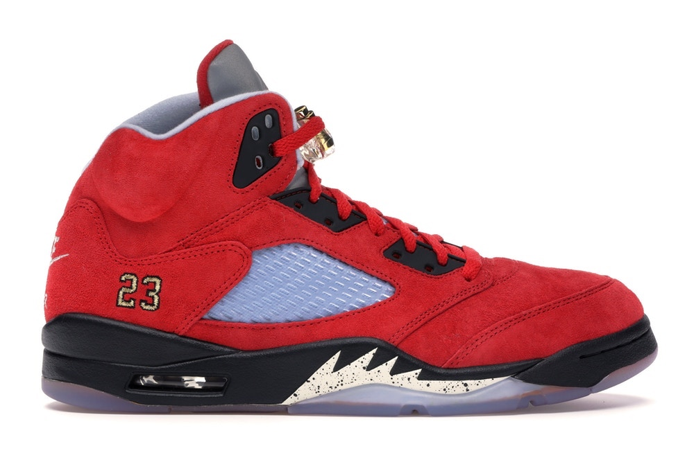 The Trophy Room X Nike Air Jordan 5 – Estimated Retail Value: $200, Resale Average: $5,213, Price Premium: 2,506 Percent