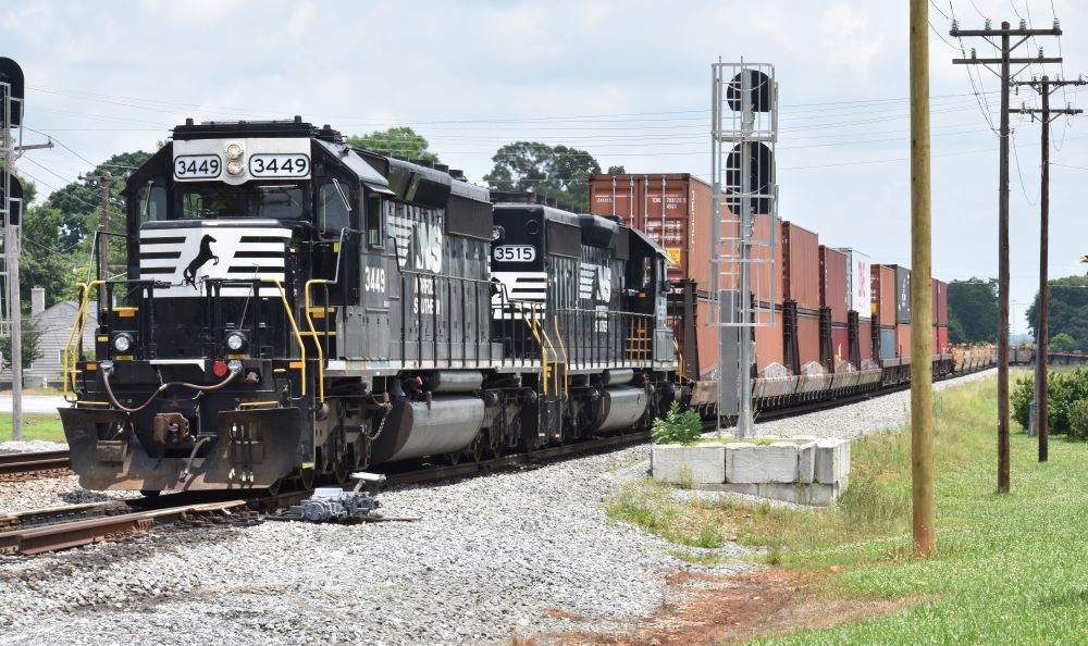 intermodal freight shipping truck train cheaper JOC IHS Markit index