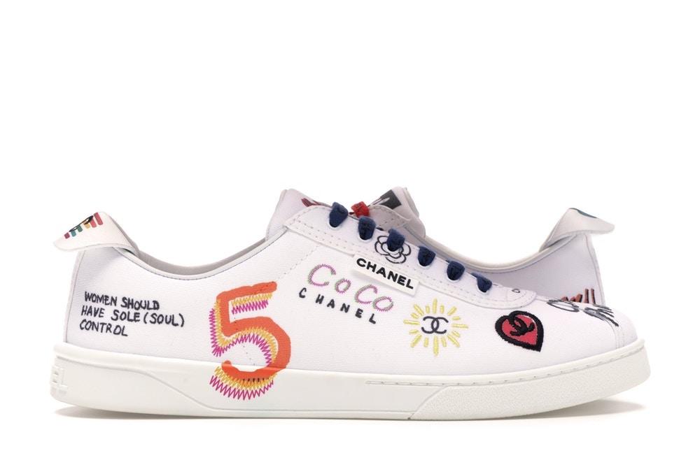 Pharrell Williams X Chanel Sneakers (Women) White Multi-color – $1,967