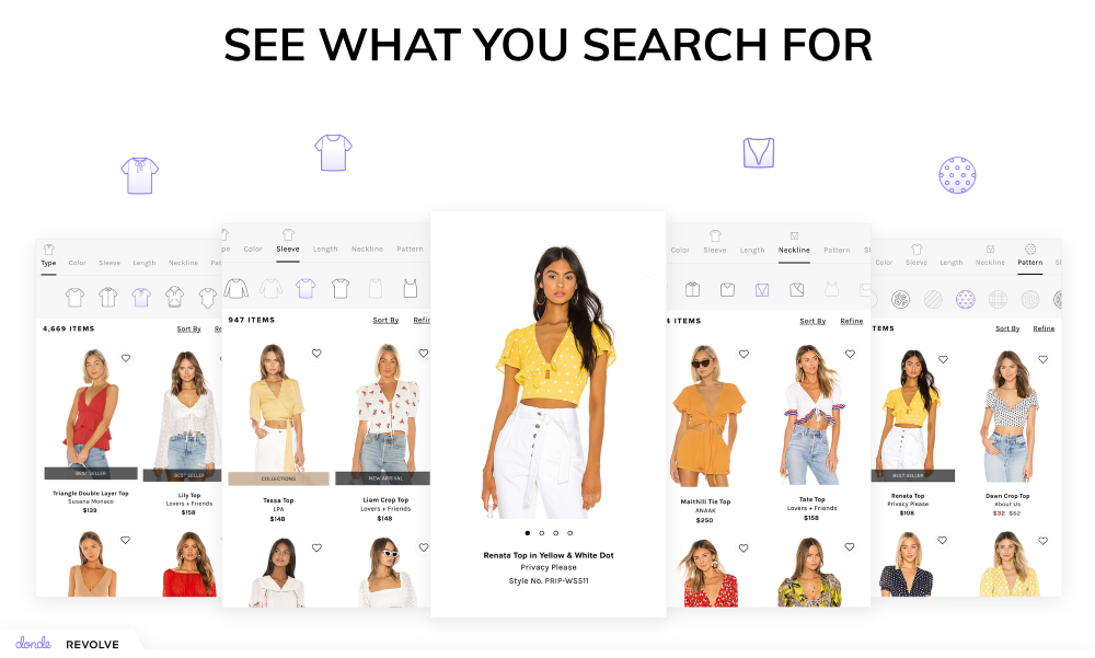 revolve donde visual search