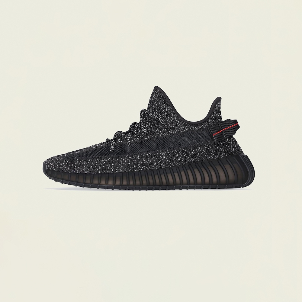 "Adidas Yeezy Boost 350 V2 ""Static Black Reflective"" – Retail Price: $220, Average Resale Price: $1,221, Price Premium: 455 Percent"